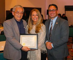 Lt. Governor, Howie Morales presented the star small business award to Knoze Jr AllerPops inventor, Cliff Han