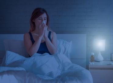 Nighttime allergies often cause sleep deprivation