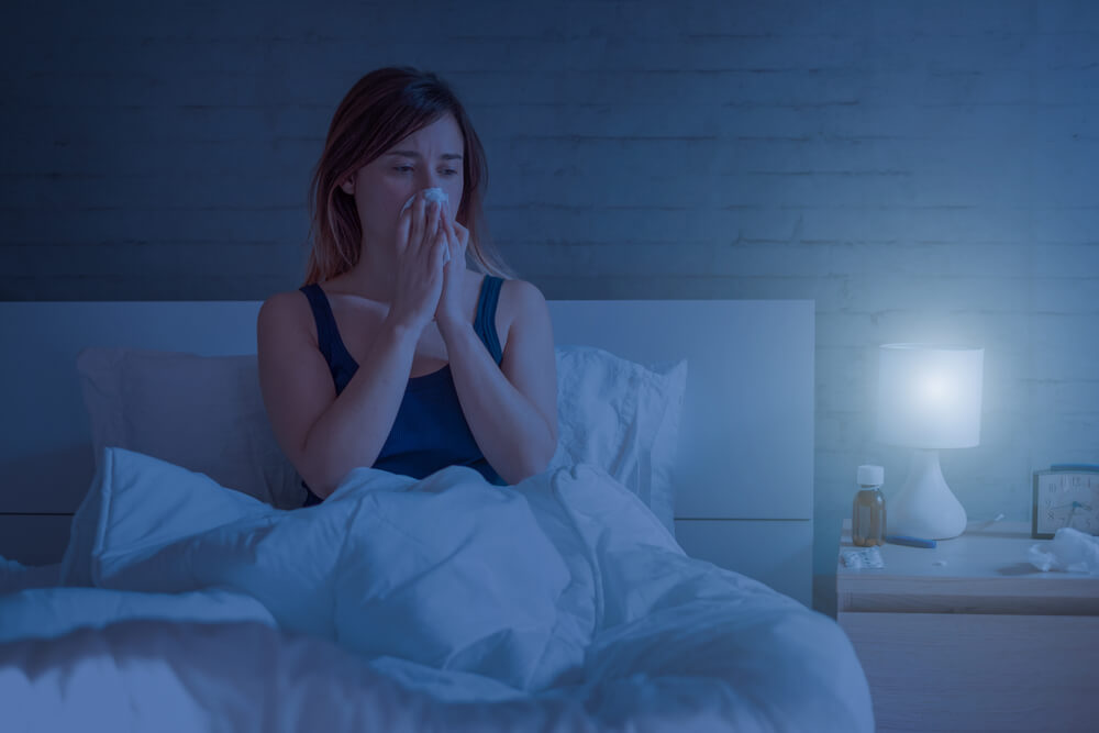 Nighttime allergies often cause sleep deprivation